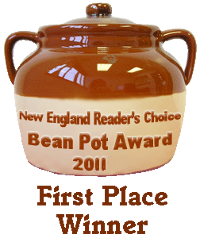New England Reader's Choice Bean Pot Award 2011 First Place Winner